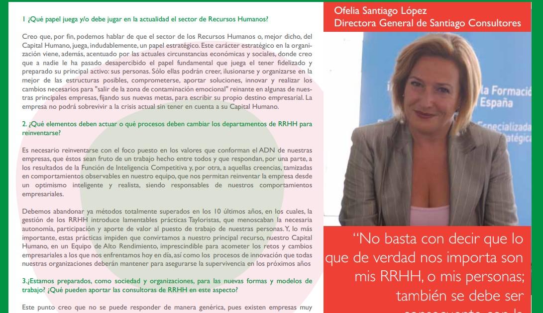 Santiago Consultores en el especial de Consultoría de RRHH de la FENAC
