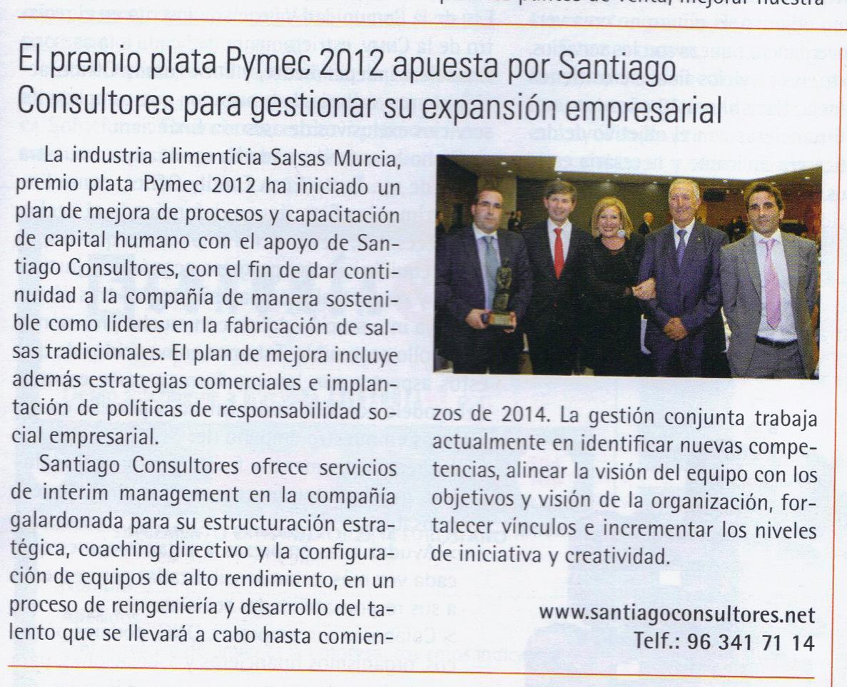 Economía 3 difunde la apuesta de Salsas Murcia por Santiago Consultores