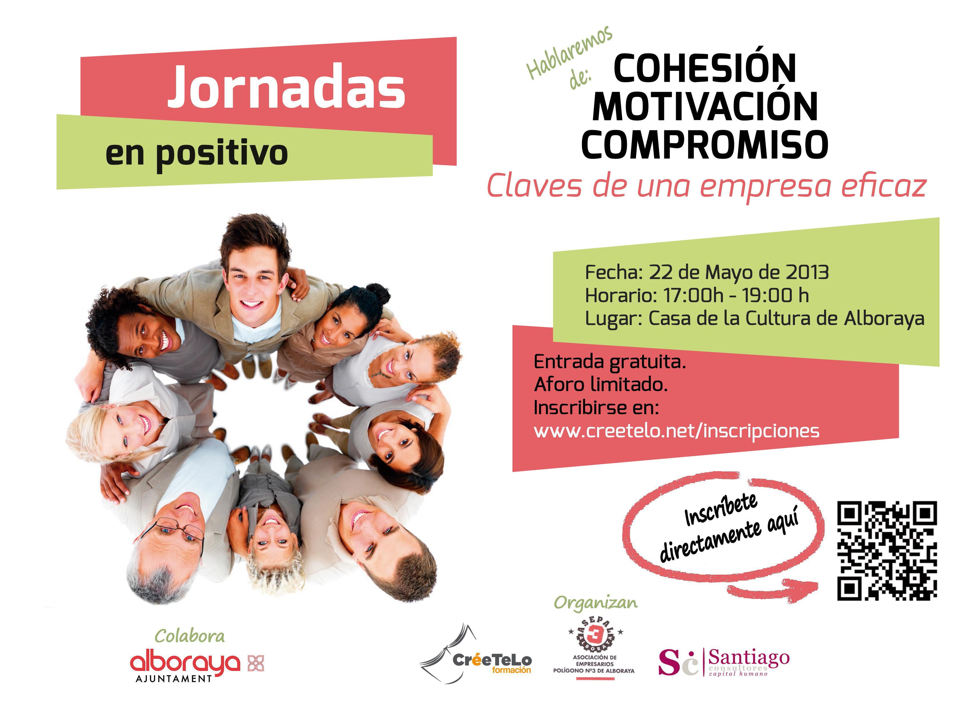 """Jornadas """"En Positivo"""" 22 de mayo Alboraya """"Claves de una empresa Eficaz"""""""