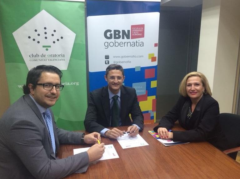 Gobernatia y el Club de Oratoria de la Comunidad Valenciana firman un convenio de colaboración