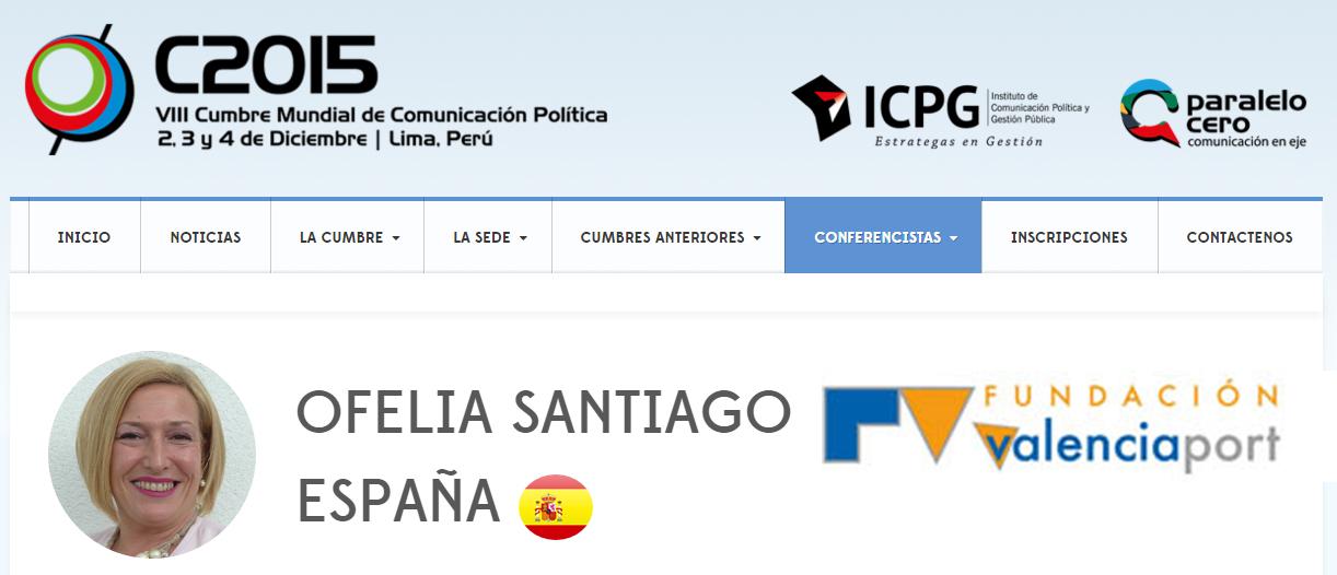 """""""Comunica tu esencia"""" ponencia en la VIII Cumbre Mundial de Comunicación Política en Perú"""