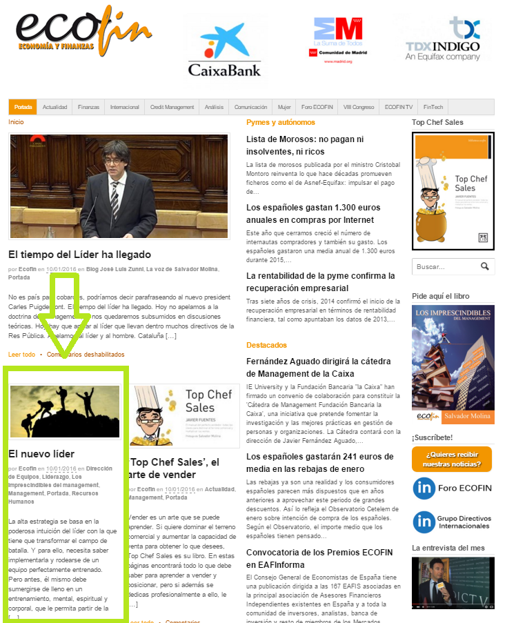 El nuevo líder | artículo en la revista de ECOFIN