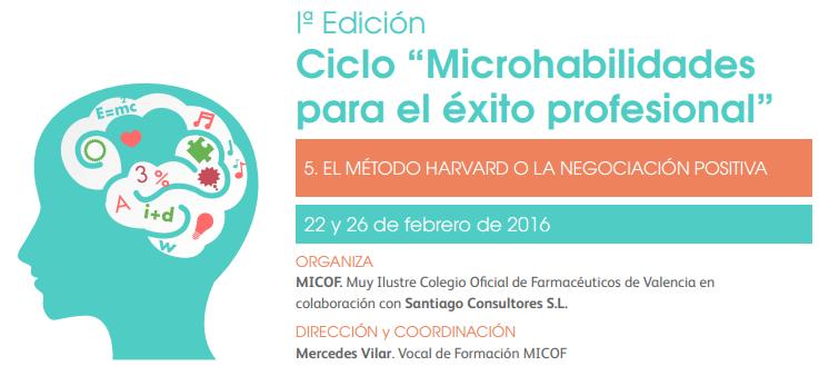 """5ª Sesión microhabilidades: """"Método Harvard o negociación positiva"""""""