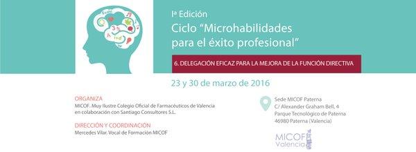 """6ª Sesión microhabilidades: """"Delegación eficaz para la mejora de la función directiva"""""""