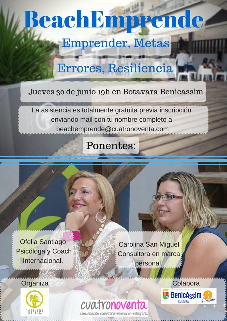 Metas y resiliencia a debate en el nuevo BeachEmprende | 30 de junio en Benicàssim
