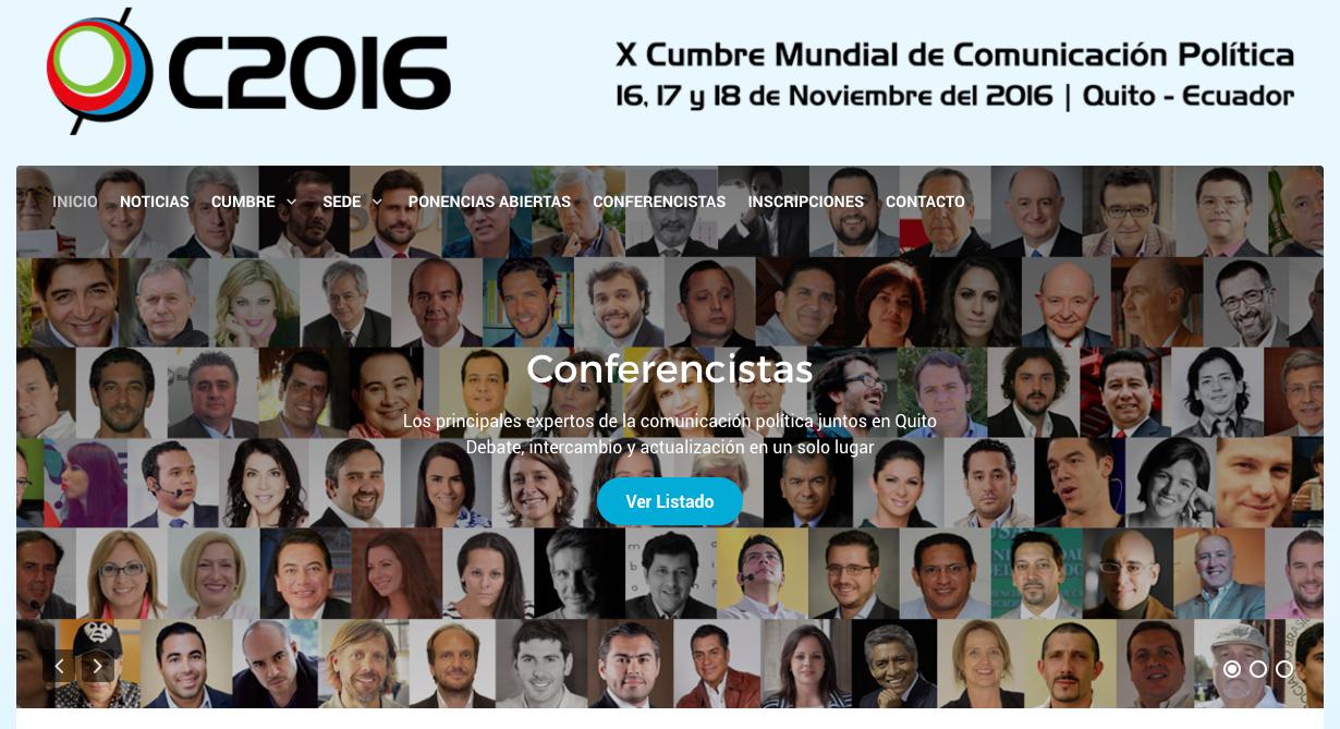 Representando a Gobernatia en la X Cumbre de Comunicación Política