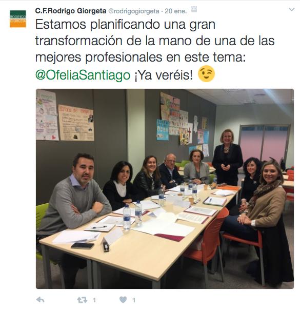 Coaching para la transformación del rol docente en Centro de Formación Rodrigo Giorgeta