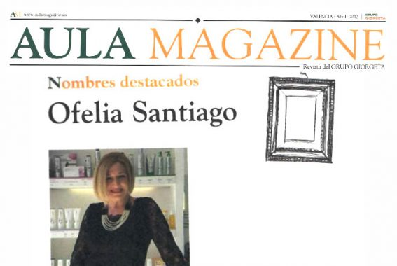Personaje destacado en la revista del grupo educativo Giorgeta