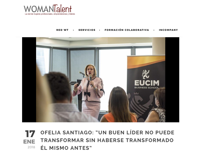 "Reportaje en WomanTalent sobre mi inclusión en el Top Ten del libro ""Los imprescindibles del Management"" de Salvador Molina"