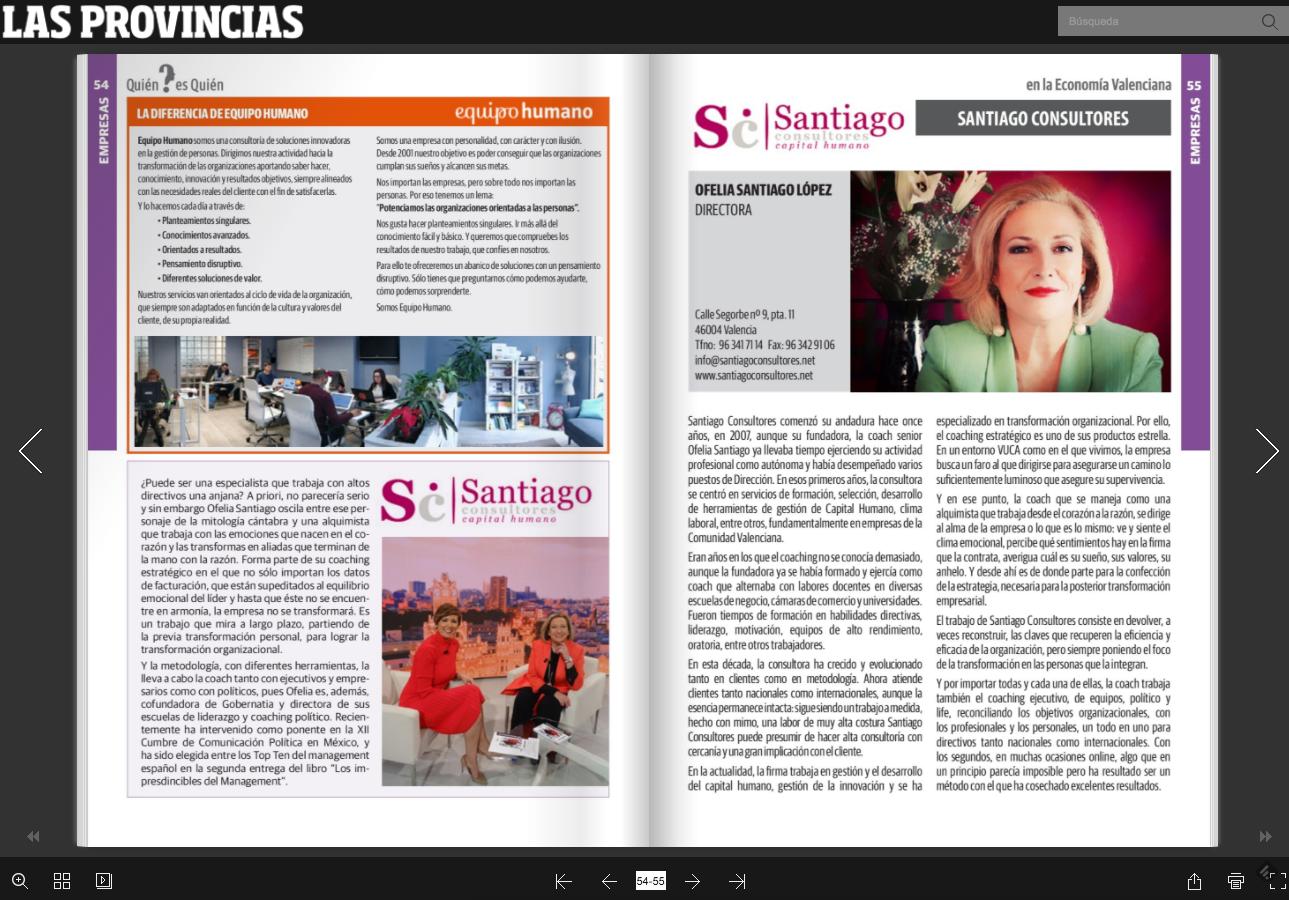 """Destacado en el """"Quién es quién"""" de Las Provincias sobre la Mujer en empresas e instituciones de la Comunidad Valenciana"""