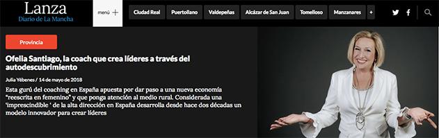 Ofelia Santiago, reportaje en Lanza