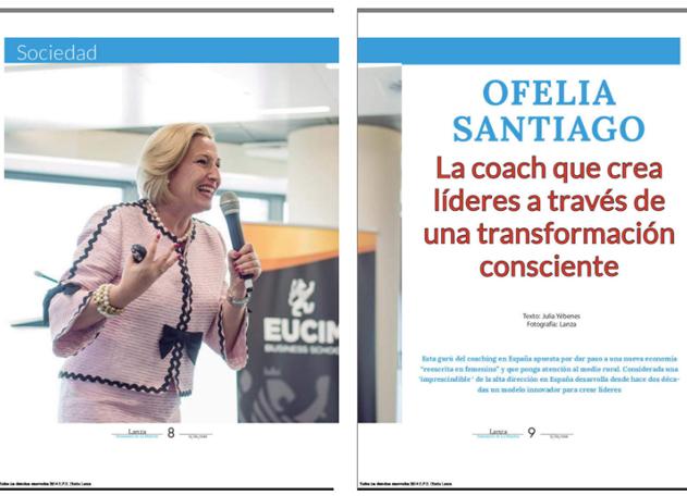 Amplio reportaje en Lanza Diario de La Mancha coaching empresarial y político