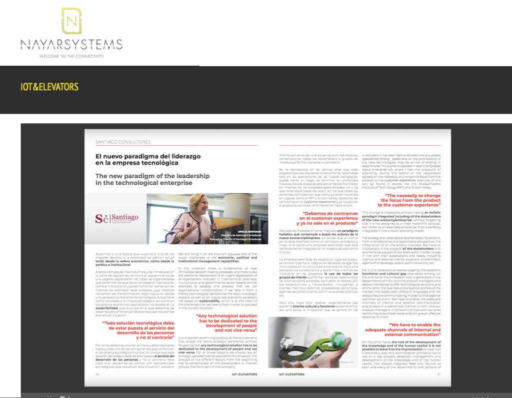 Artículo de Ofelia Santiago en revista de Nayar Systems