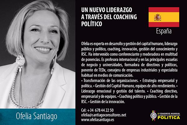 Ofelia Santiago participa en el congreso mundial de Cali
