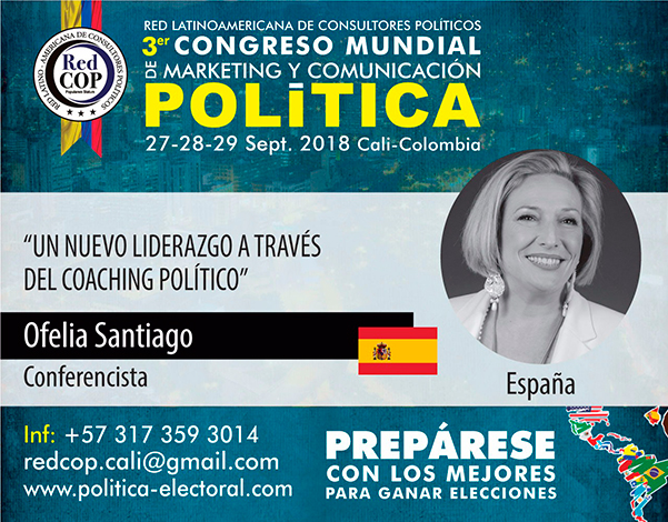 El nuevo liderazgo político, tema de mi intervención del Congreso Mundial de Marketing y Comunicación política que se celebra en Cali en septiembre