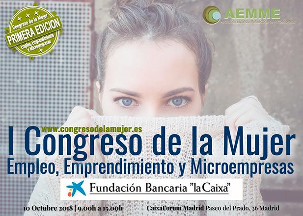 Participación, junto a Manuel Campo Vidal, en el I Congreso de la Mujer que organiza AEMME para el 10 octubre