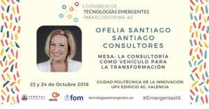 Ofelia Santiago en II Congreso de Tecnologías Emergentes
