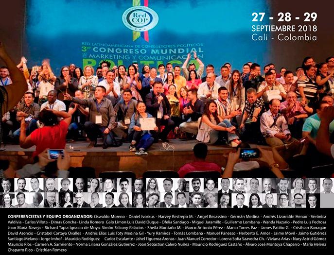 Ofelia Santiago en Congreso Mundial de Marketing y Comunicación Política de Cali (Colombia)