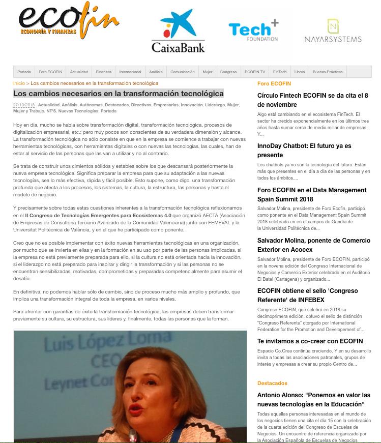 Artículo de Ofelia Santiago | Nuevo paradigma de liderazgo en la empresa tecnológica