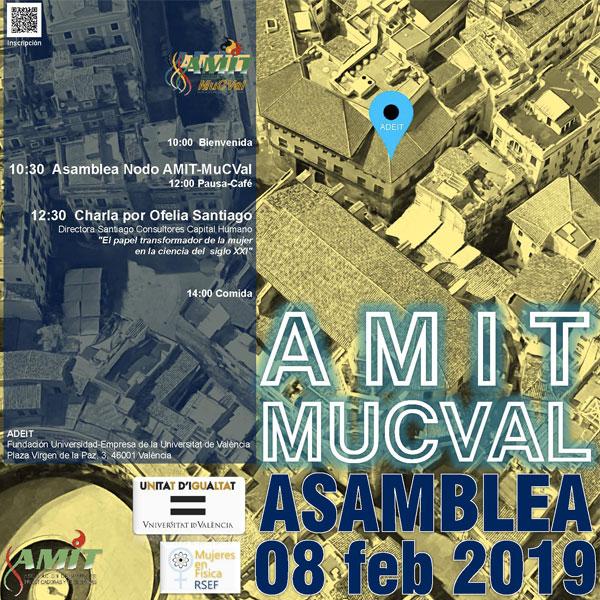 El papel transformador de la mujer en la ciencia del siglo XXI centrará la charla que impartiré en la asamblea de AMIT MuCVal